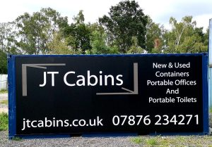 New 20ft x 8ft Storage Container With Branded Logo Panel £2900+Vat