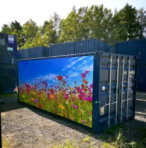 New 20ft x 8ft Shipping Container, storage Container With Wildflower Scene