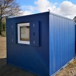 10x9 antivandal office unit with UPVC window