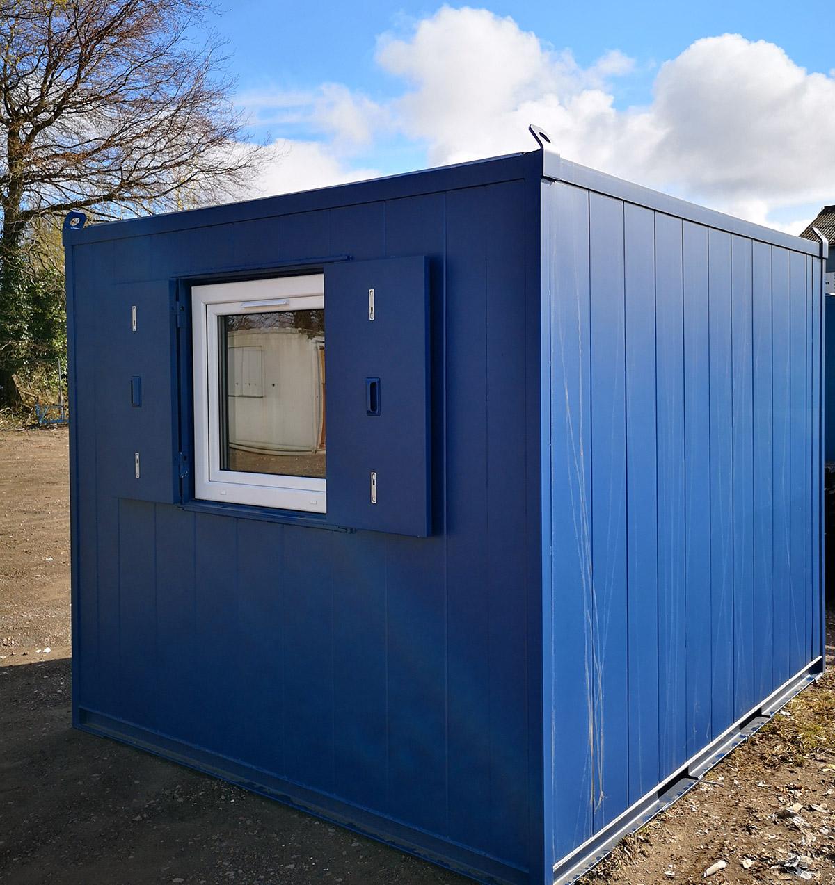 10x9 antivandal office unit with UPVC window