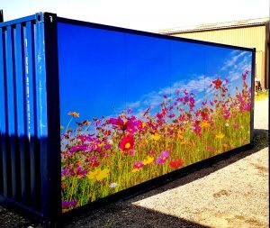 New 20ft x 8ft Storage Container With Branded with picture Panel